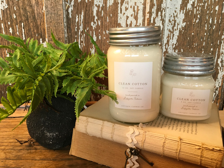 Hand poured with love from the Midwest Made with wax from natural, domestically grown soy beans, non-toxic fine fragrance oils and essential oils, and a natural cotton wick for a clean, long-lasting burn.