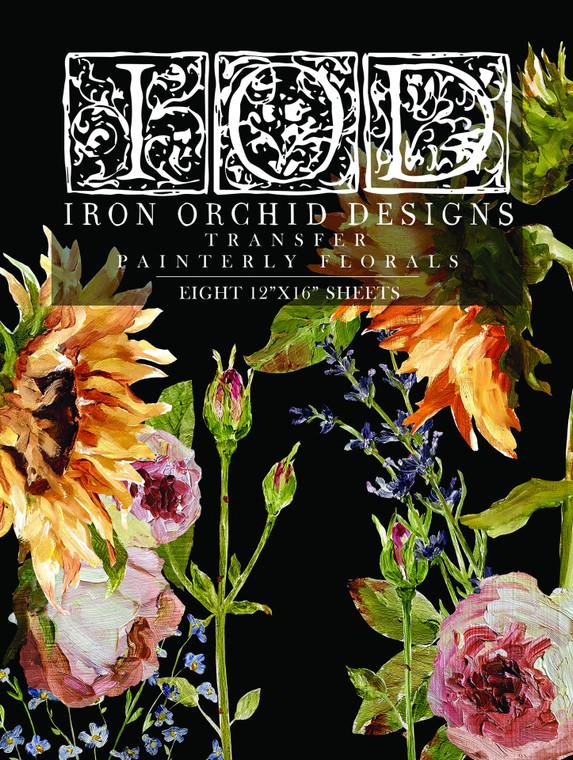 IOD Decor Transfer Painterly Florals