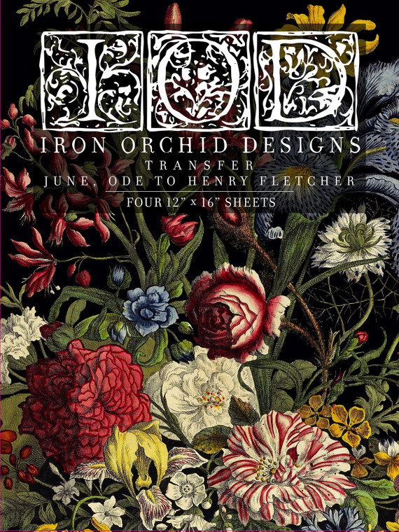 Iron Orchid Designs IOD June, Ode to Henry  Transfer