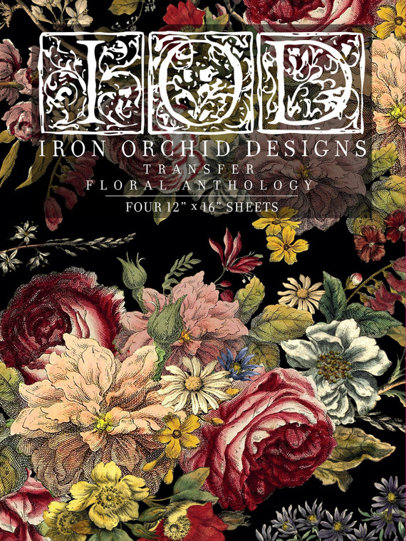 Iron Orchid Designs IOD Floral Anthology Transfer