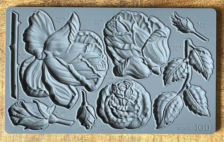 IOD Decor Moulds™ Roses 6x10