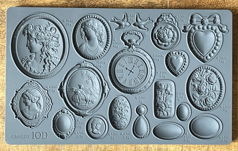 IOD Decor Moulds™ Cameos 6x10