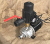 MH series pump showing the inlet and brass union.
