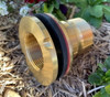 Brass  Watermark Approved tank flange adaptor with reverse thread on the nut.
