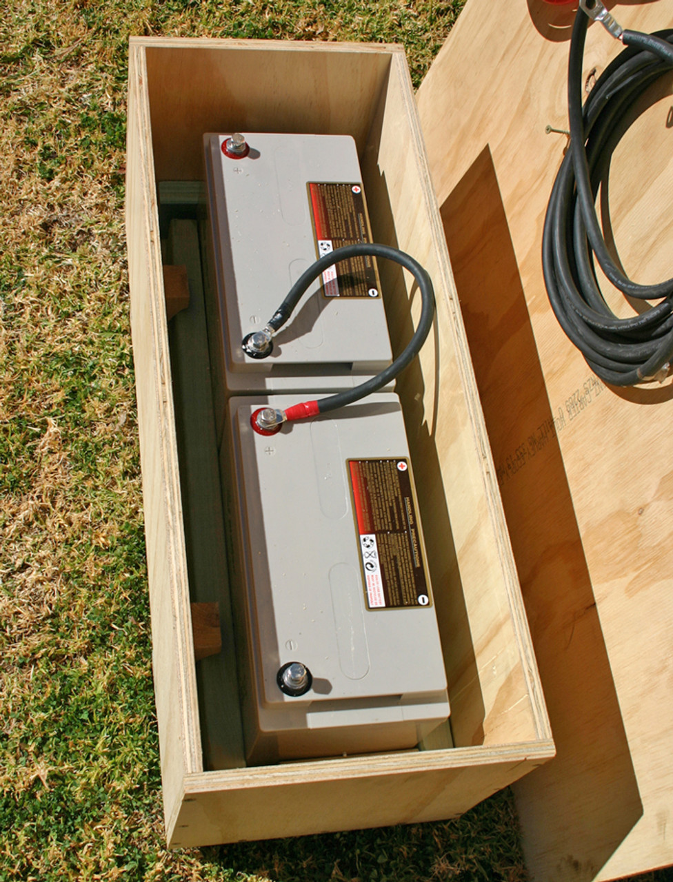 Timber ply battery box