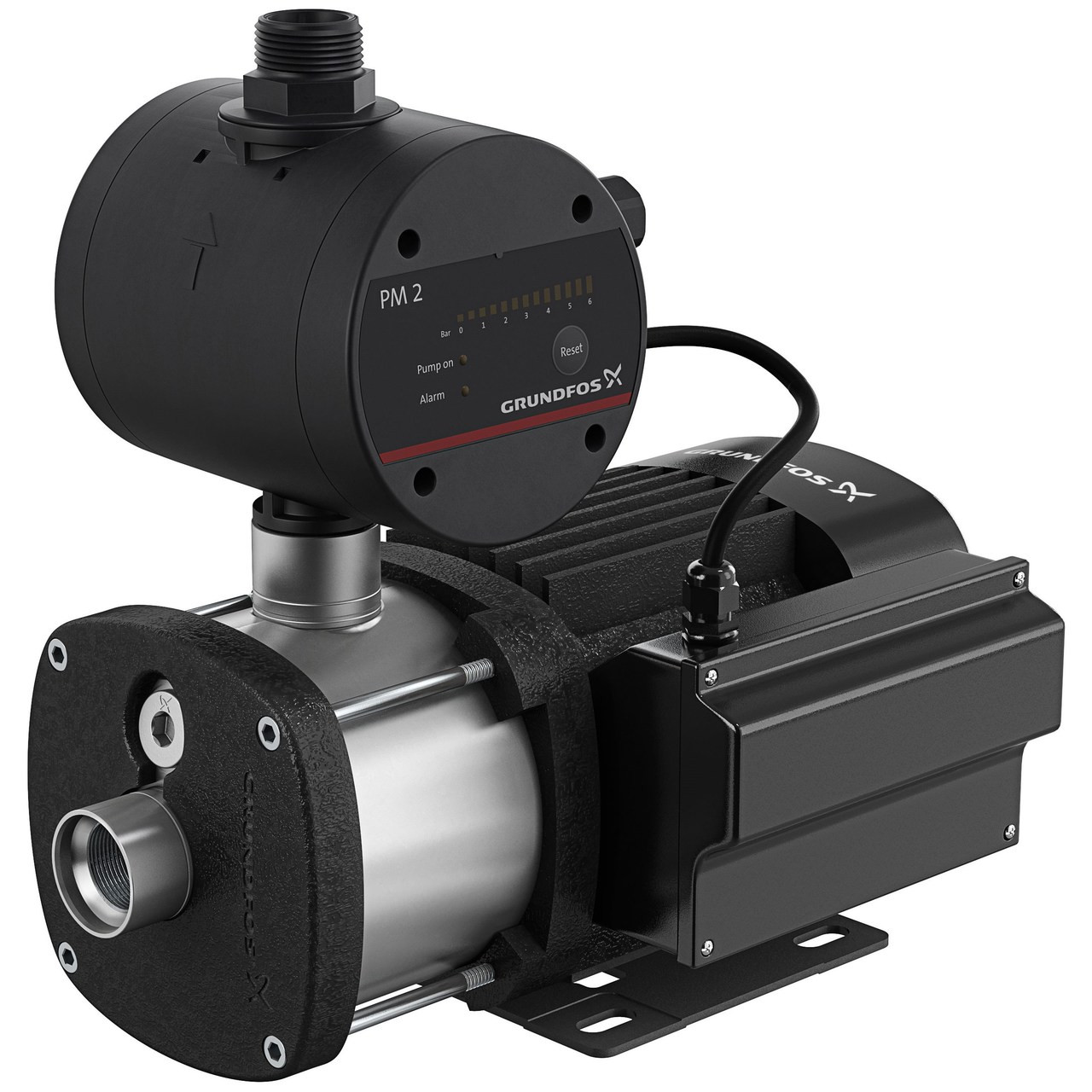 Grundfos CMB-SP 3-28 Single Phase Automatic Pressure Pump, PM2 Controller with stainless steel pump end and run-dry protection.   40 L/Min @ 225 kPa.