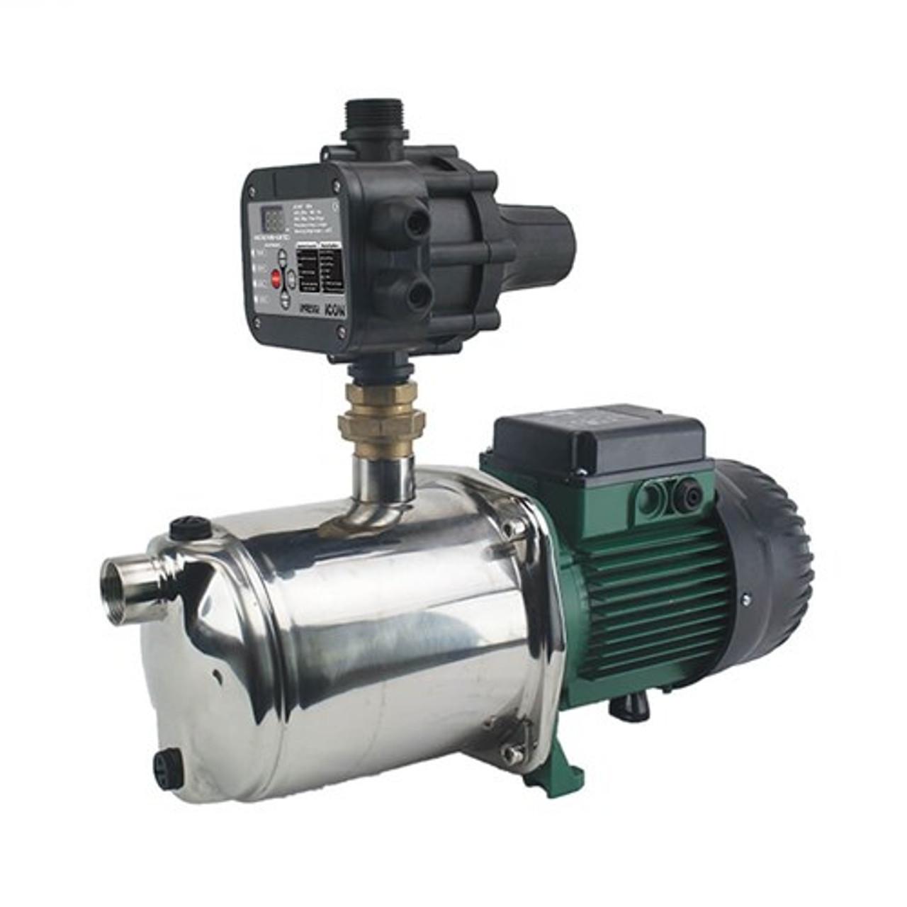 Dab Euroinox 40/50 Automatic Pressure Pump with s/steel pump and suction lift to 5m deep.   40 L/min @ 450 kPa to 60 L/min @ 350 kPa.