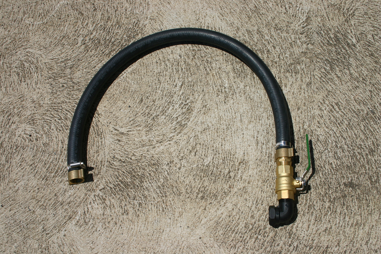 Pump discharge hose kit - 2m of Flexible pressure hose and fittings