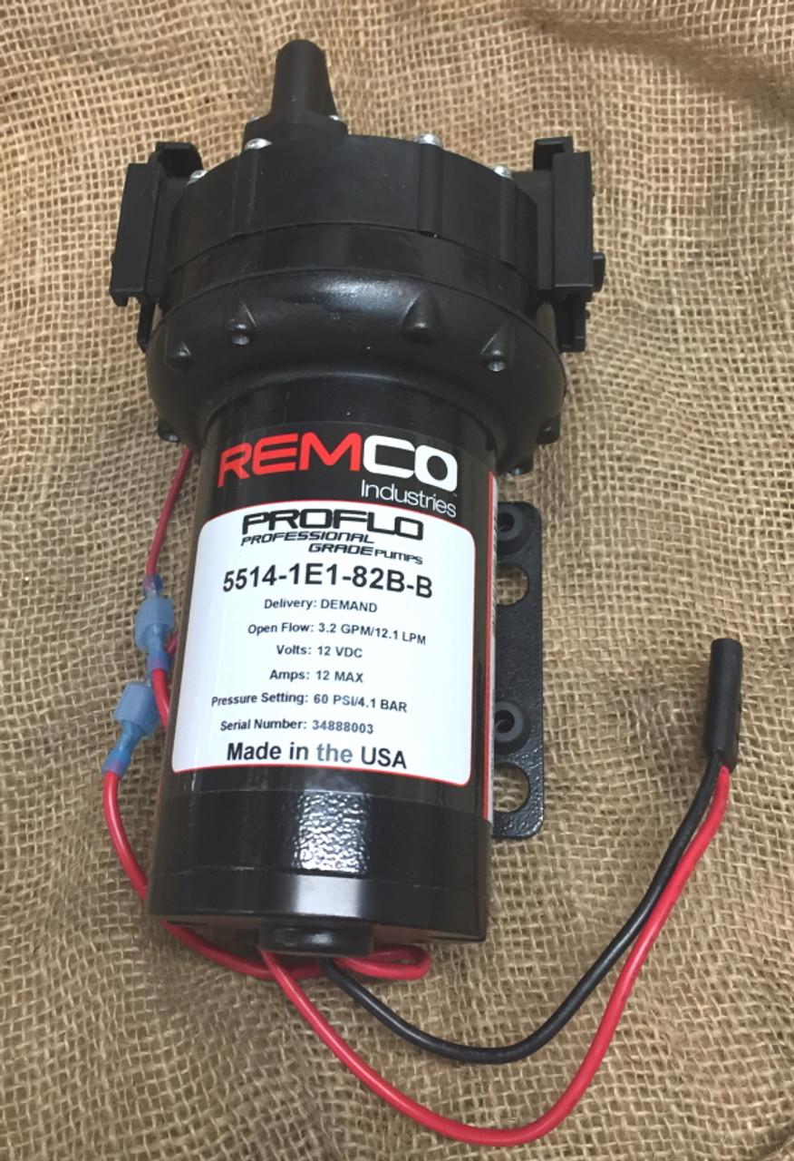 Remco automatic 12v DC pressure pump model 5514-1E1-82B No 3