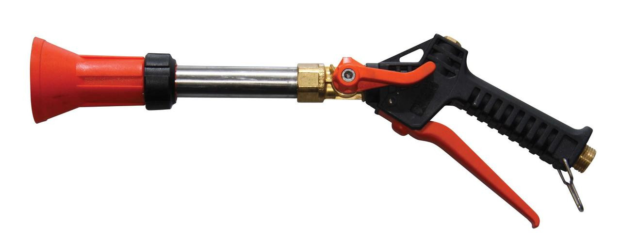 "Turbo 400 spray plastic handle gun with 1/2"" male BSP brass inlet and 1.5mm nozzle (with swivel inlet)"