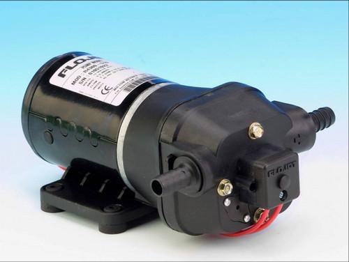 "4405-343 Flojet ""Quiet Quad"" Pressure Pump 24v DC with Marine Ignition Protection (Santoprene/EPDM) 12.5 L/Min Max"