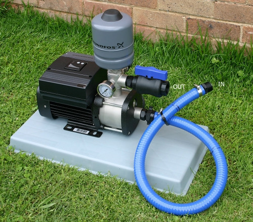 CMBE Booster variable speed drive pump with polyslab base and fittings kit