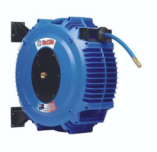 Recoila Chemical retractable hose reel with 20m of 10mm PVC hose