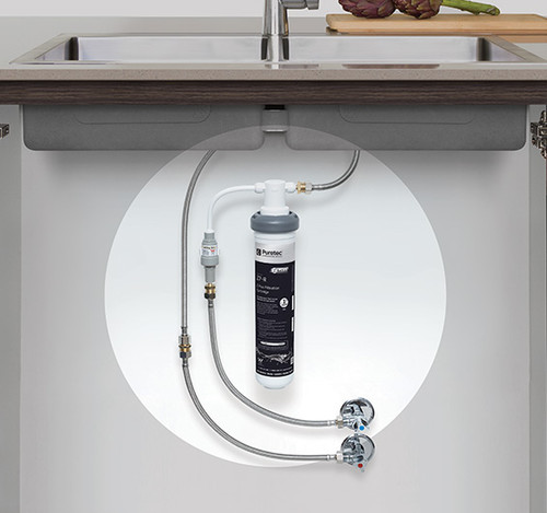 Puretec Puremix Z7 high flow inline harsh water filter system with 60,560 L capacity