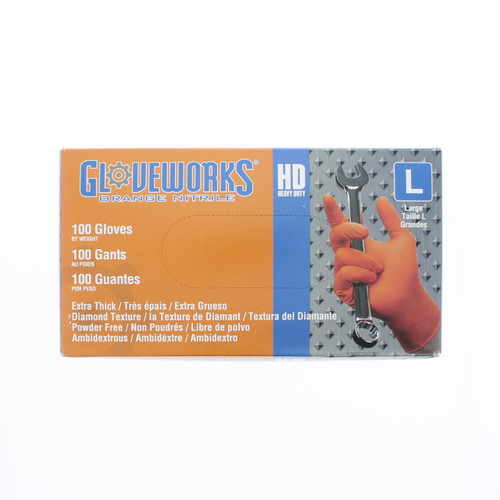 Heavy Duty Industrial Nitrile Gloves 10 Mil - ONG-L
