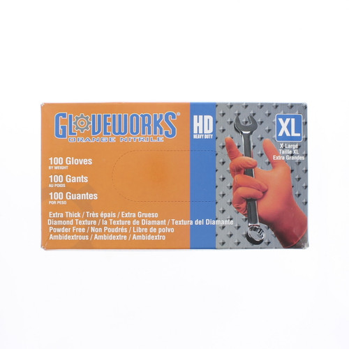Heavy Duty Industrial Nitrile Gloves 10 Mil - ONG-XL