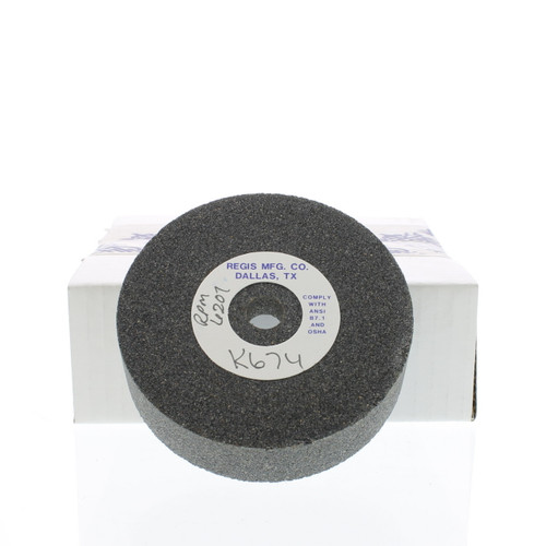 """4"""" X 1-1/8"""" X 1/2"""" - Straight Cup - 54 Grit Valve Refacer Wheel K-674"""