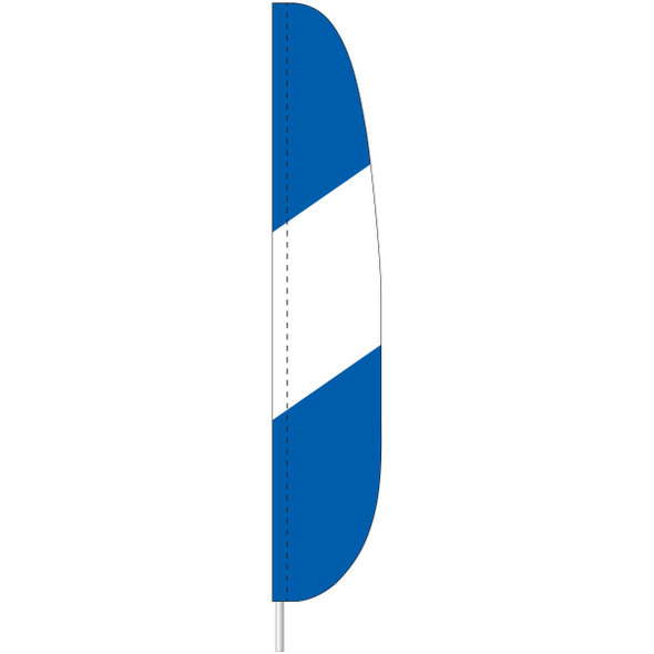 Blue and White Feather Flag