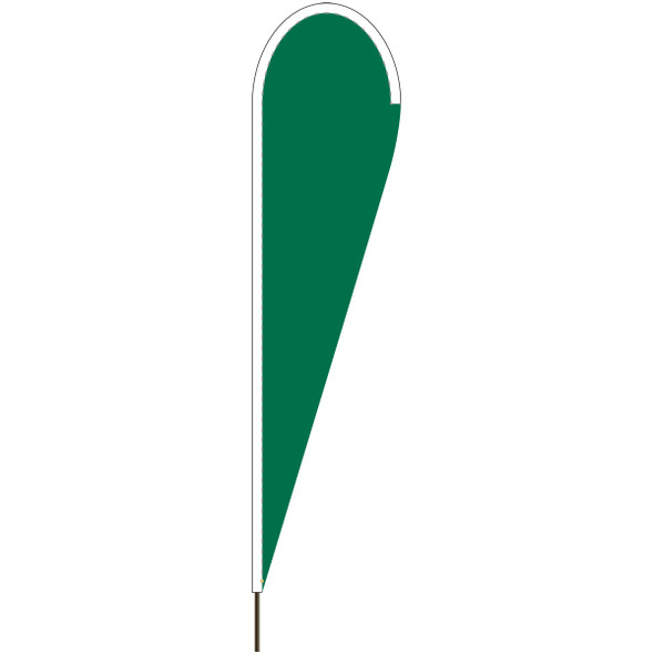 Emerald Green Tear Drop Flag