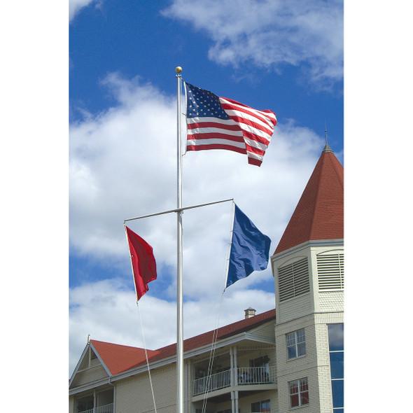 Single Mast Nautical Series Flagpoles w/ Yardarm