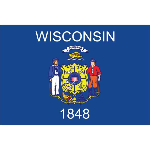 Wisconsin State Nylon Flag