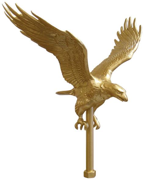 "11-1/4"" Gold Flying Eagle Flagpole Ornament"