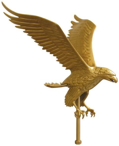 "15"" Gold Flying Eagle Flagpole Ornament"