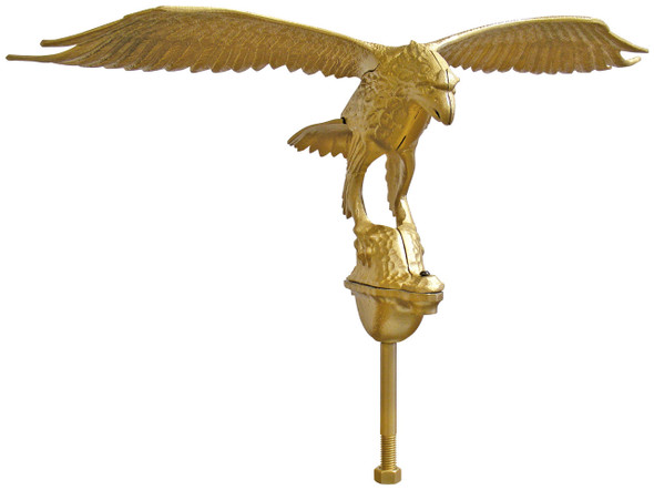 "24"" Gold flying Eagle Flagpole Ornament"