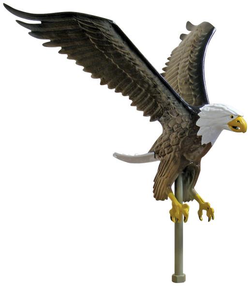 "15"" Natural Flying Eagle Flagpole Ornament"
