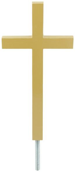 "13"" Gold Cross Flagpole Orament"