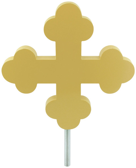 "12"" Botonee Cross Gold Flagpole Ornament"