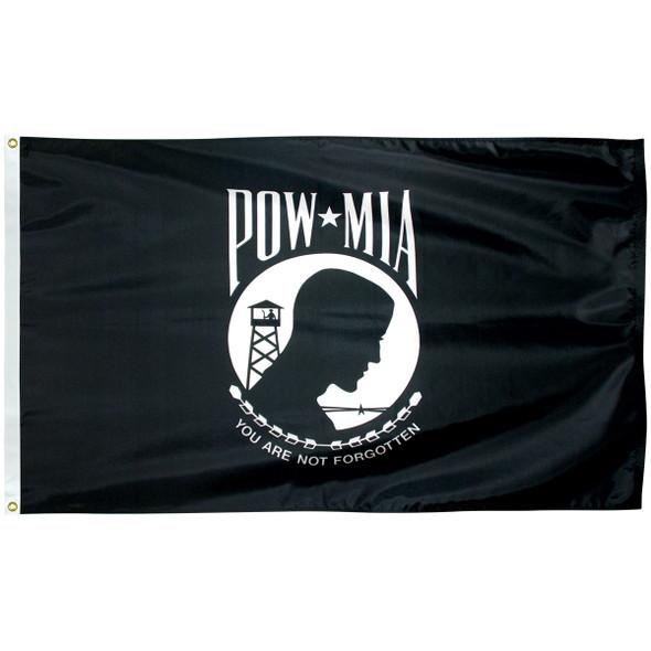 POW/MIA Single Face Reverse Nylon Flag