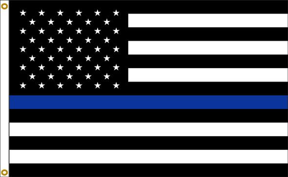 Thin Blue Line Flag 3' x 5'