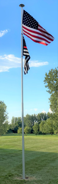"""Superior Three"" 30' Telescoping Flagpole"