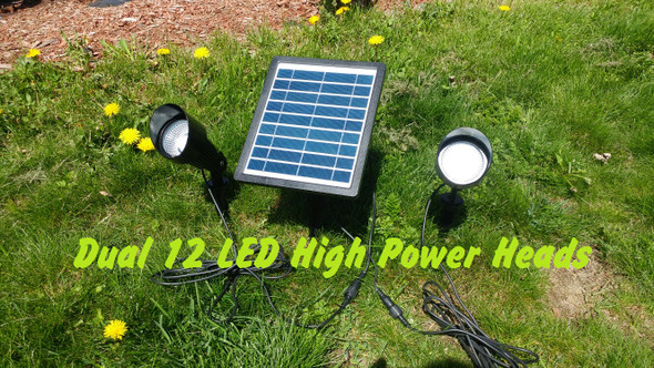 Dual Solar Spot Light Kit