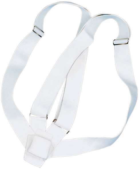 Double Strap White Web Carrying Belt