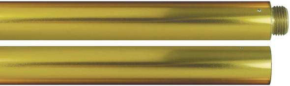 """8' x 1"""" Gold Aluminum Indoor Parade Flagpole"""