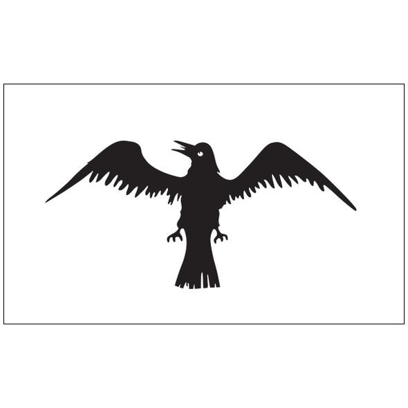 3' x 5' Raven Outdoor Nylon Flag