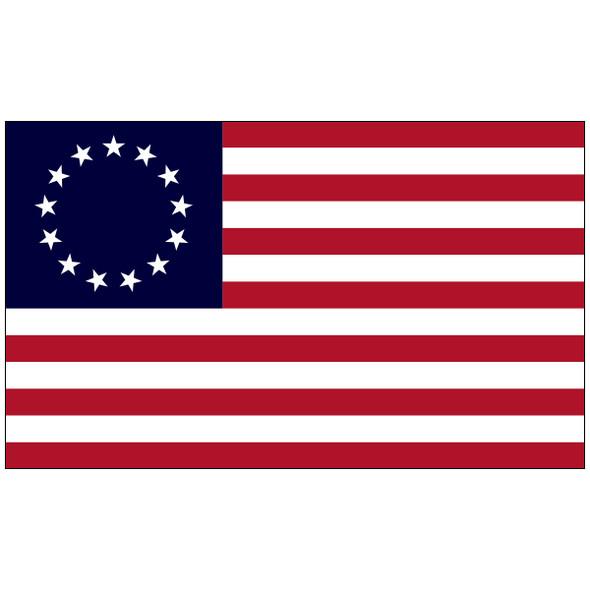 "4"" x 6"" E-Gloss Mounted Betsy Ross Flag"