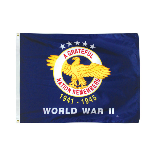 3' x 4' Nylon World War II Commemorative Flag
