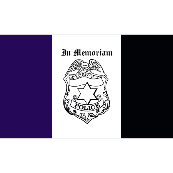 3' X 5' Nylon Police Mourning Flag