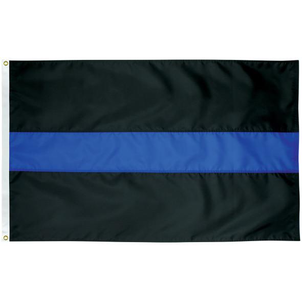 Thin Blue Line Nylon Police Flag