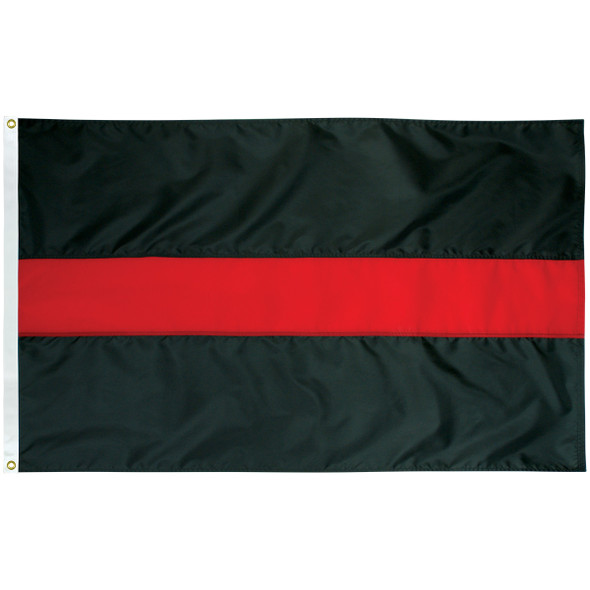 Nylon Thin Red Line Firefighters Flag