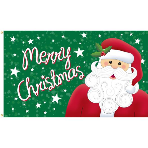 """3' x 5' Nylon Outdoor """"Santa"""" Flag"""