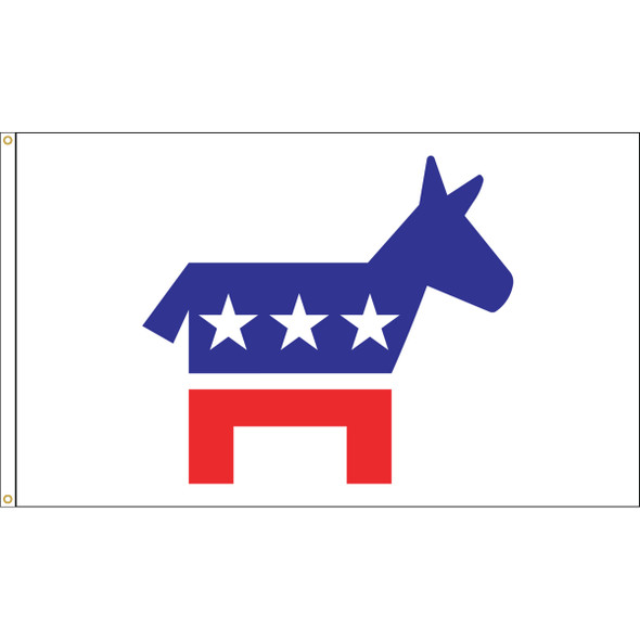 "3' x 5' Nylon ""DEMOCRATIC DONKEY"" Outdoor Flag"