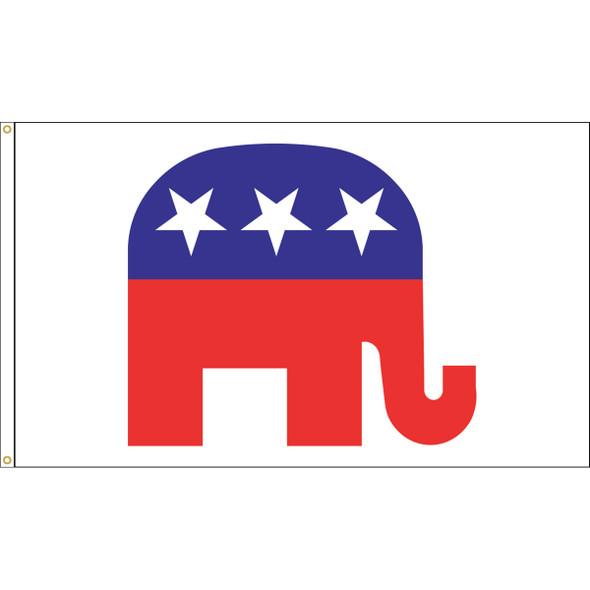 "3' x 5' Nylon ""REPUBLICAN ELEPHANT"" Outdoor Flag"