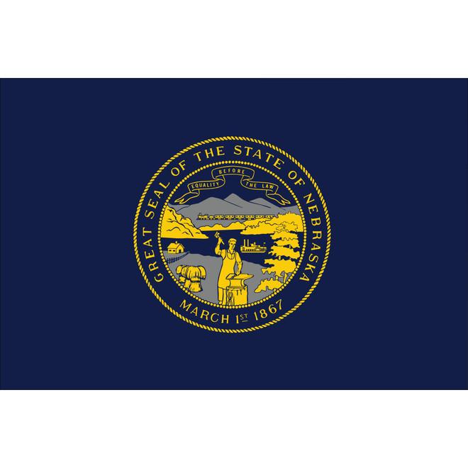 Nebraska State Nylon Flag