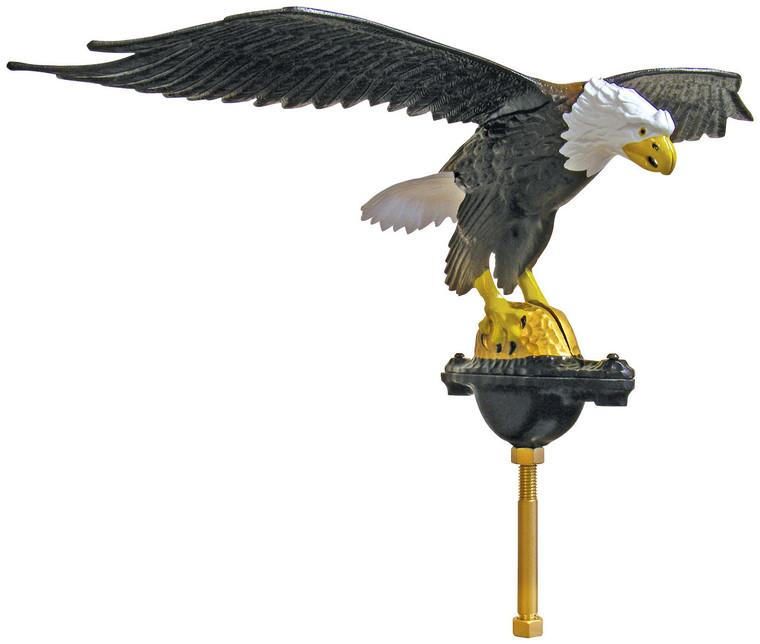 "24"" Natural Flying Eagle Flagpole Ornament"