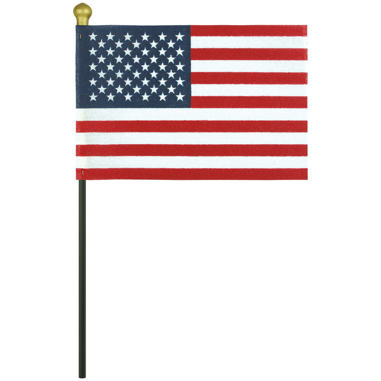 No-Fray Poly-Cotton Stick Flags with Vinyl Tip