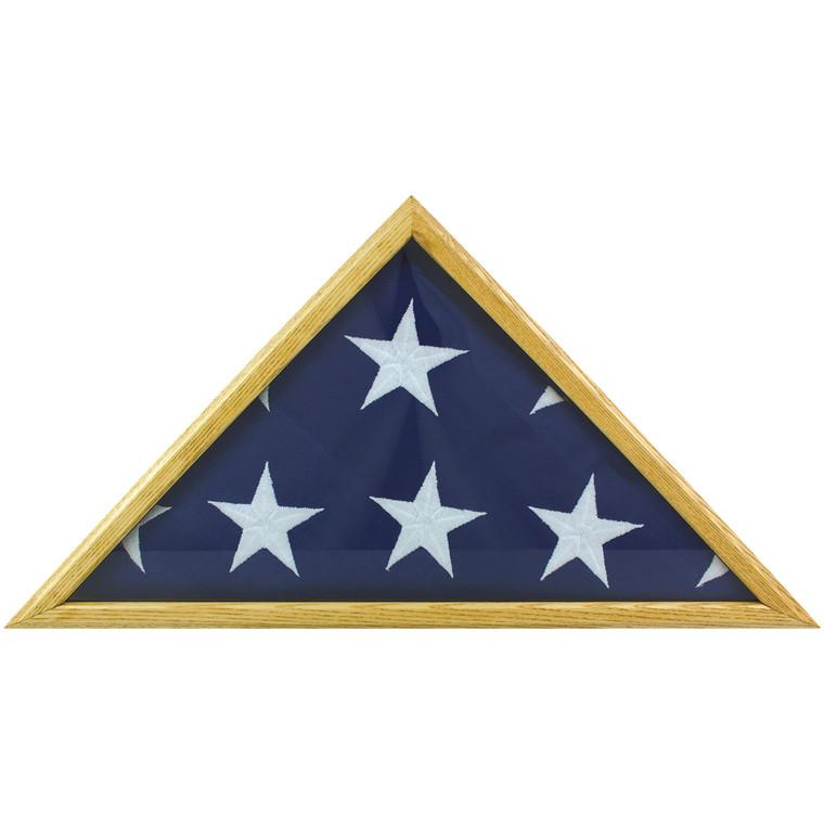 Oak Memorial Flag Cases